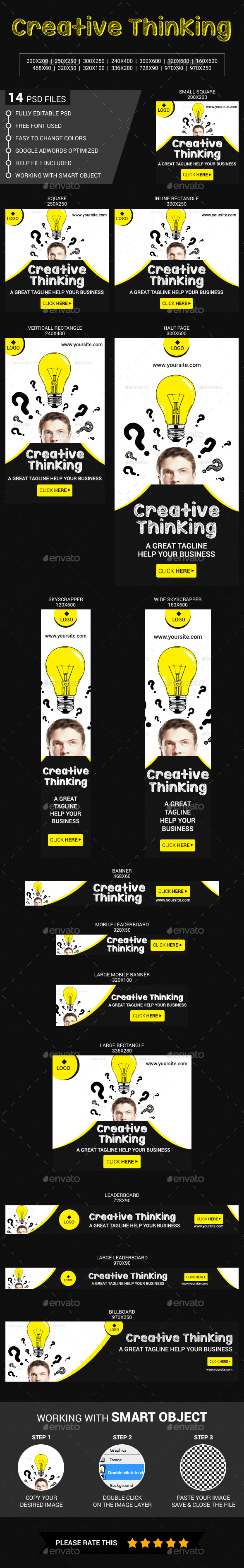 Creative Thinking - Banners & Ads Web Elements