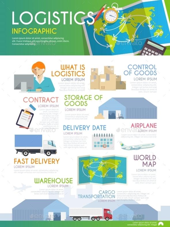 Logistics Infographic - Travel Conceptual