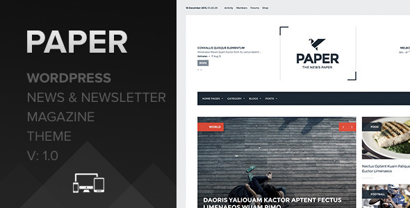 Paper – WordPress Newspaper and News Magazine Theme