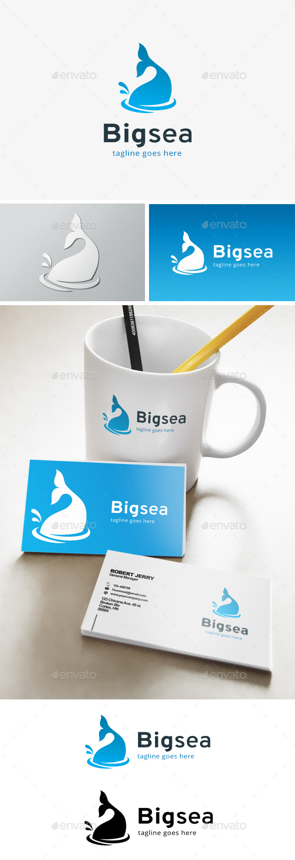 Big Sea Business Logo - Animals Logo Templates