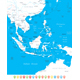 Southeast Asia Map and Navigation Icons - GraphicRiver Item for Sale