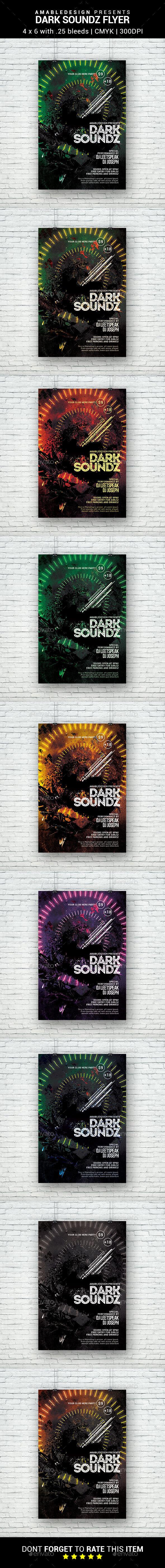 Dark Soundz Flyer - Clubs & Parties Events