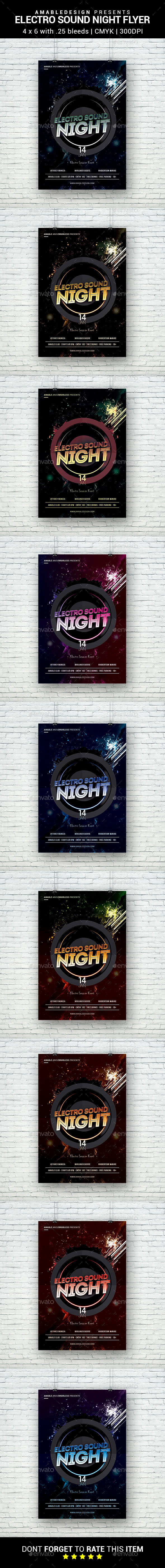 Electro Sound Night Flyer - Clubs & Parties Events