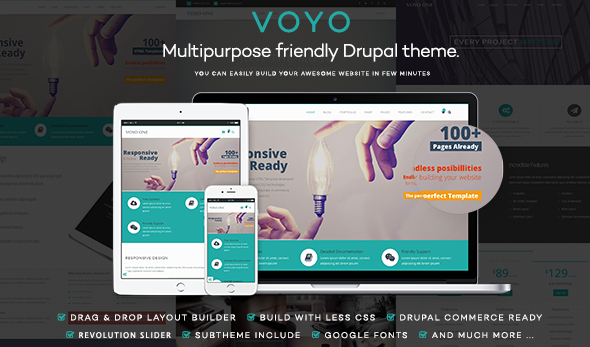VOYO - Multi-Purpose eCommerce Drupal Theme - Creative Drupal