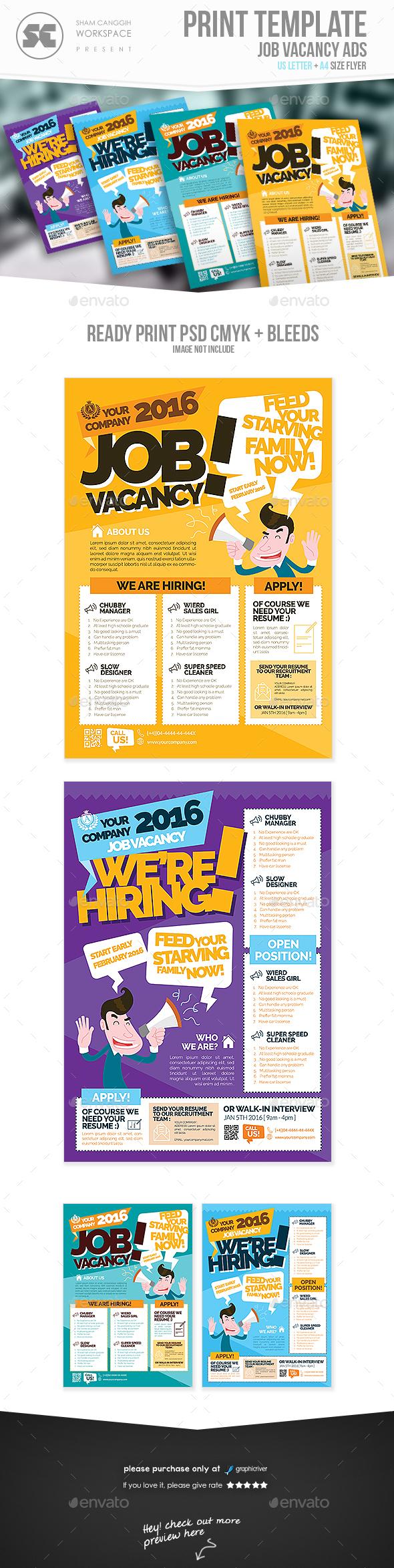 Job Vacancy Flyer - Corporate Flyers