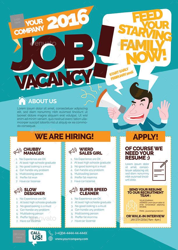 Job Vacancy Flyer by shamcanggih | GraphicRiver