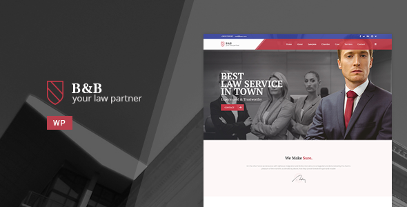 B&B – Law & Attorney WordPress Theme
