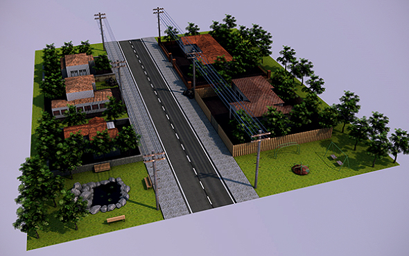 Low Poly City (Ready to Render) - 3DOcean Item for Sale