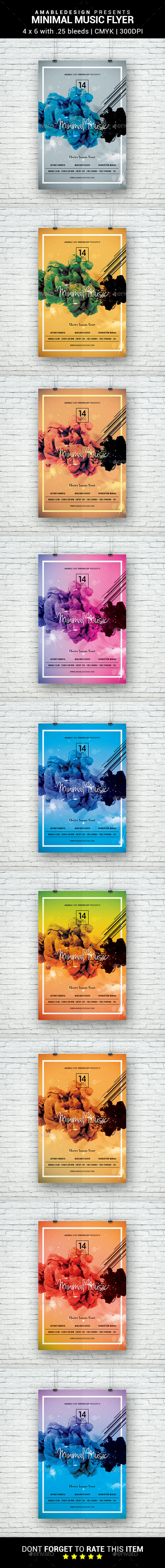 Minimal Music Flyer - Clubs & Parties Events