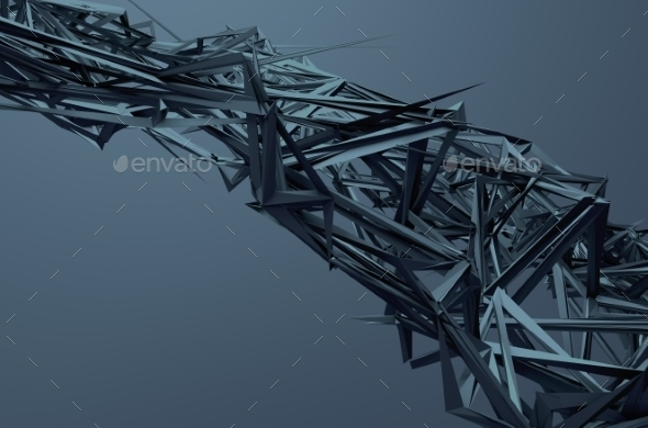 Abstract 3D Rendering Of Chaotic Structure. - 3D Backgrounds