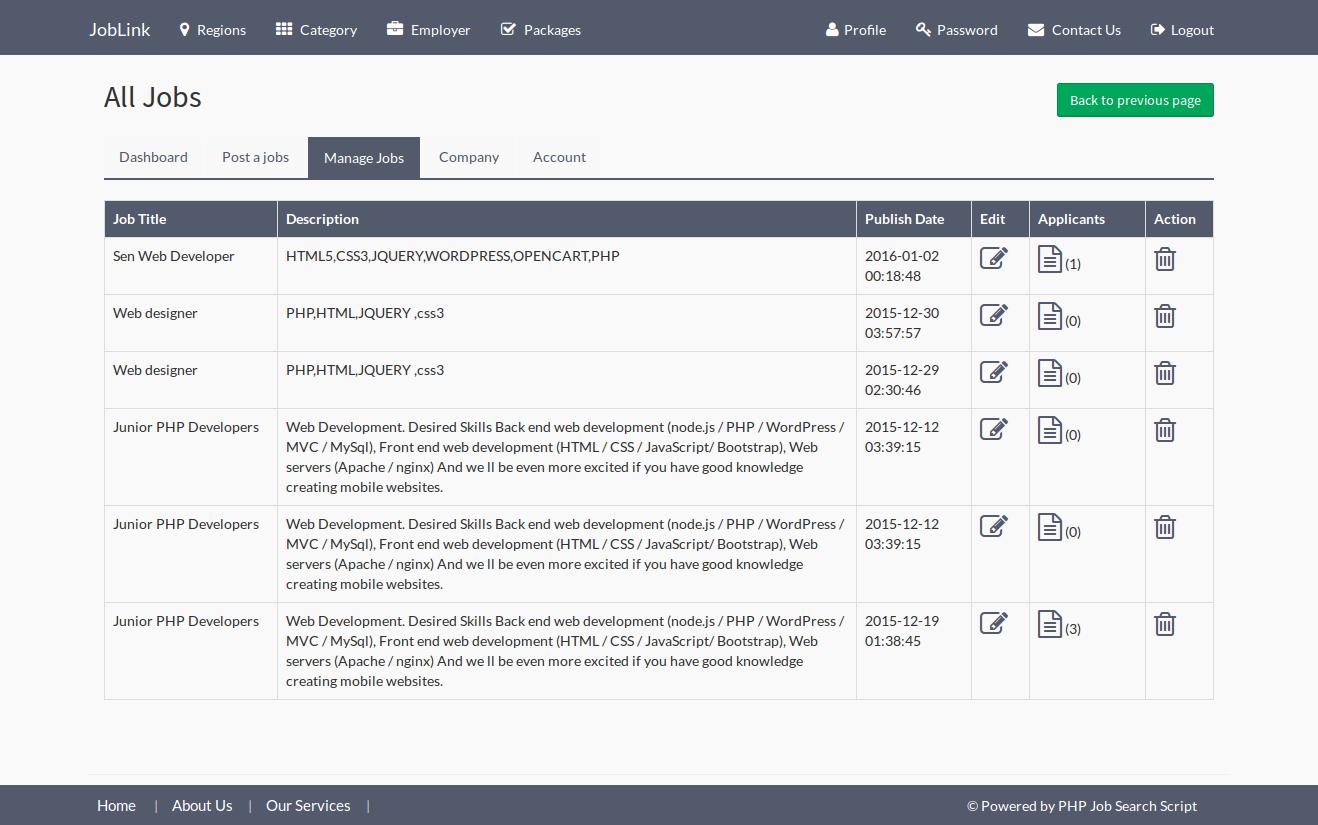 Automated Job Portal Script