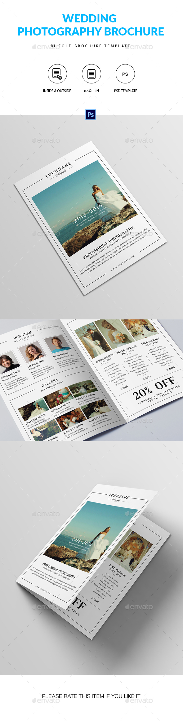 Wedding Photography Brochure Template - Corporate Brochures