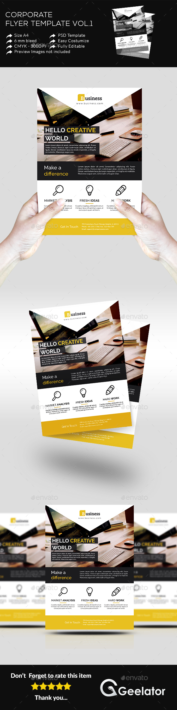 Corporate Flyer Template Vol 1 - Corporate Flyers
