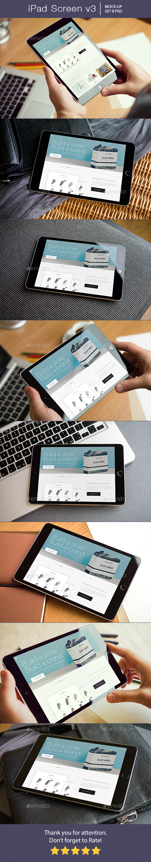 Pad Screen Mockup v3 - Mobile Displays