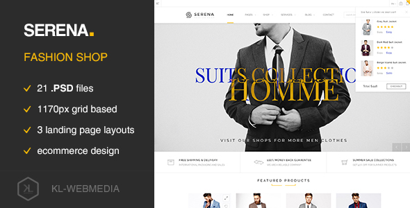 Serena - Fashion eCommerce PSD Template - Fashion Retail