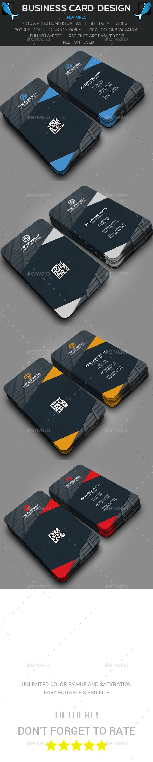 Verticle Corporate Business Card - Corporate Business Cards