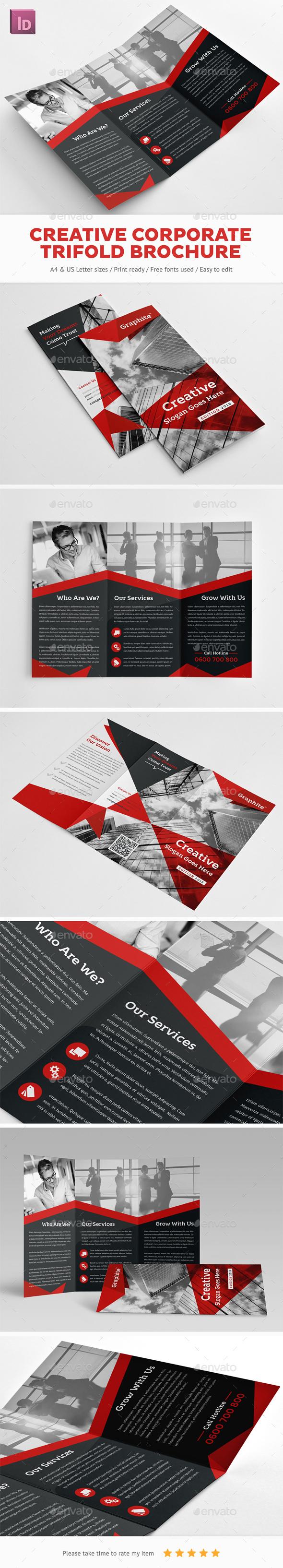 Creative Corporate  Trifold Brochure - Corporate Brochures