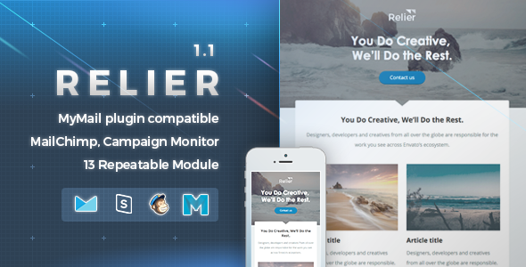 Relier | Responsive Email Template - Newsletters Email Templates