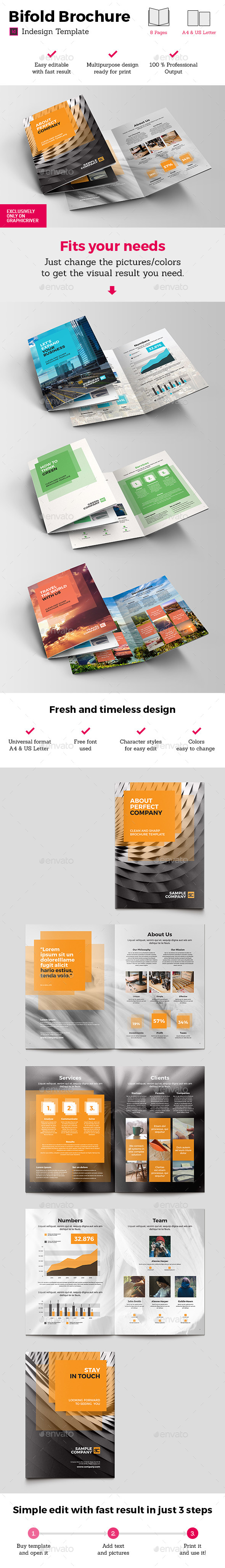 Universal Bifold Brochure Indesign Template - Brochures Print Templates