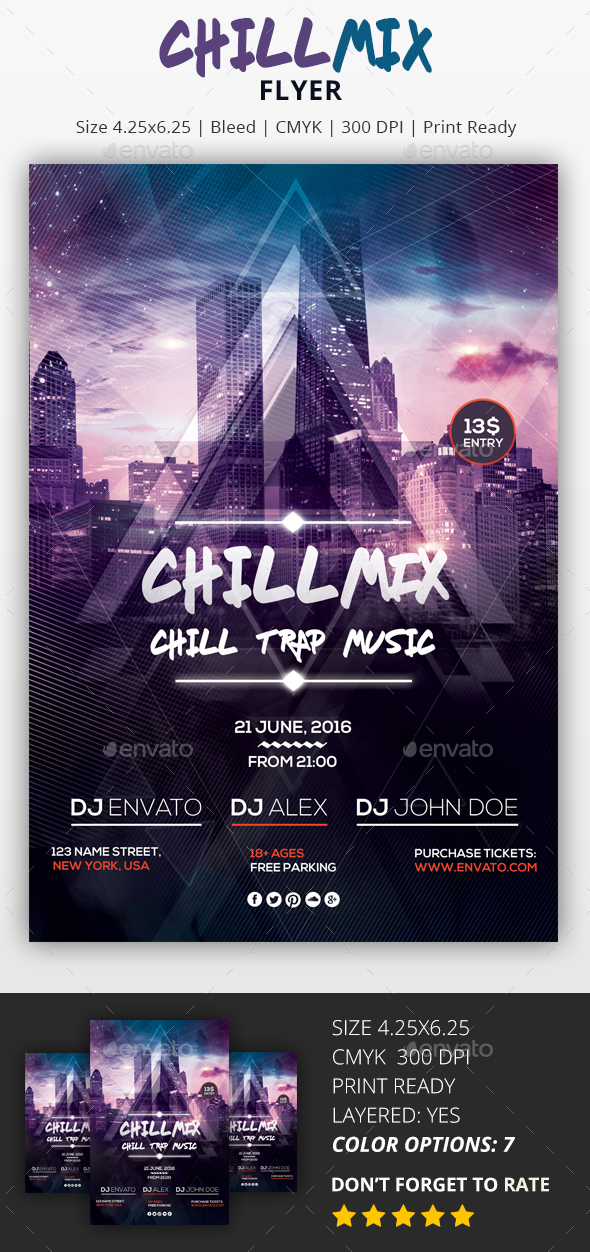 Chill Mix - PSD Flyer - Clubs & Parties Events