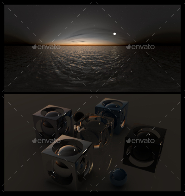 Ocean Night 2 - HDRI - 3DOcean Item for Sale