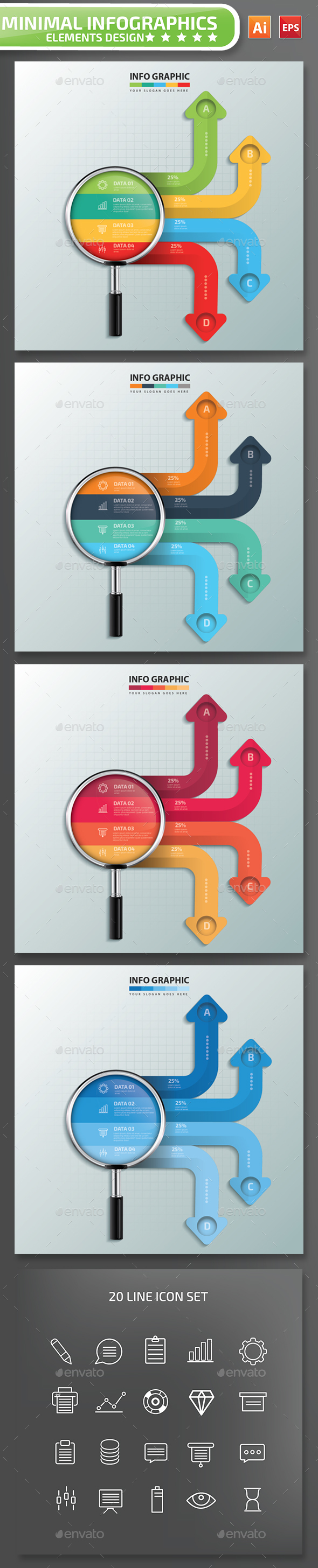 Searching Infographics Design 02 - Infographics