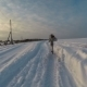 Girl Is Running Through The Snow At Cold Winter - VideoHive Item for Sale