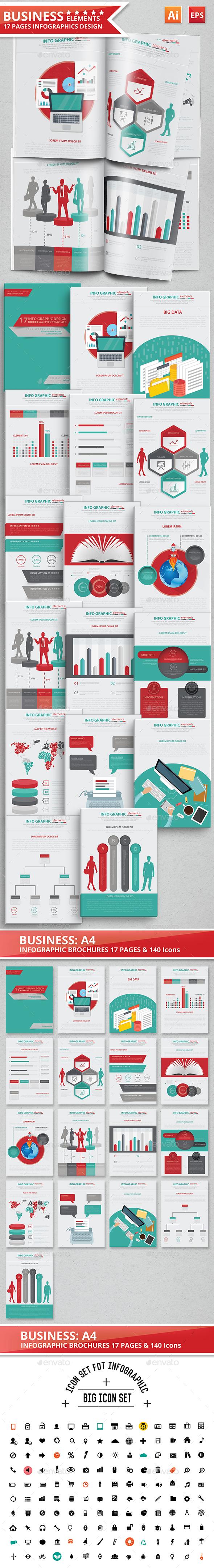 Infographics Design 17 Pages Scheme 2 - Infographics