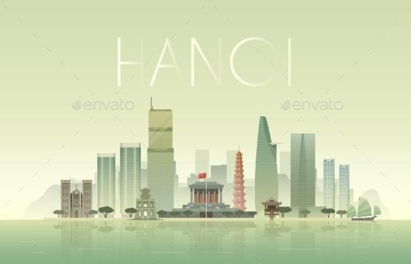 Hanoi Illustration - Buildings Objects