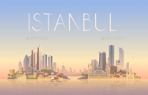 Istanbul Illustration - Landscapes Nature