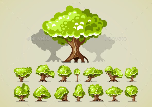 Green Trees - Organic Objects Objects