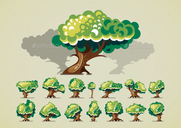 Trees for Videogame - Miscellaneous Game Assets
