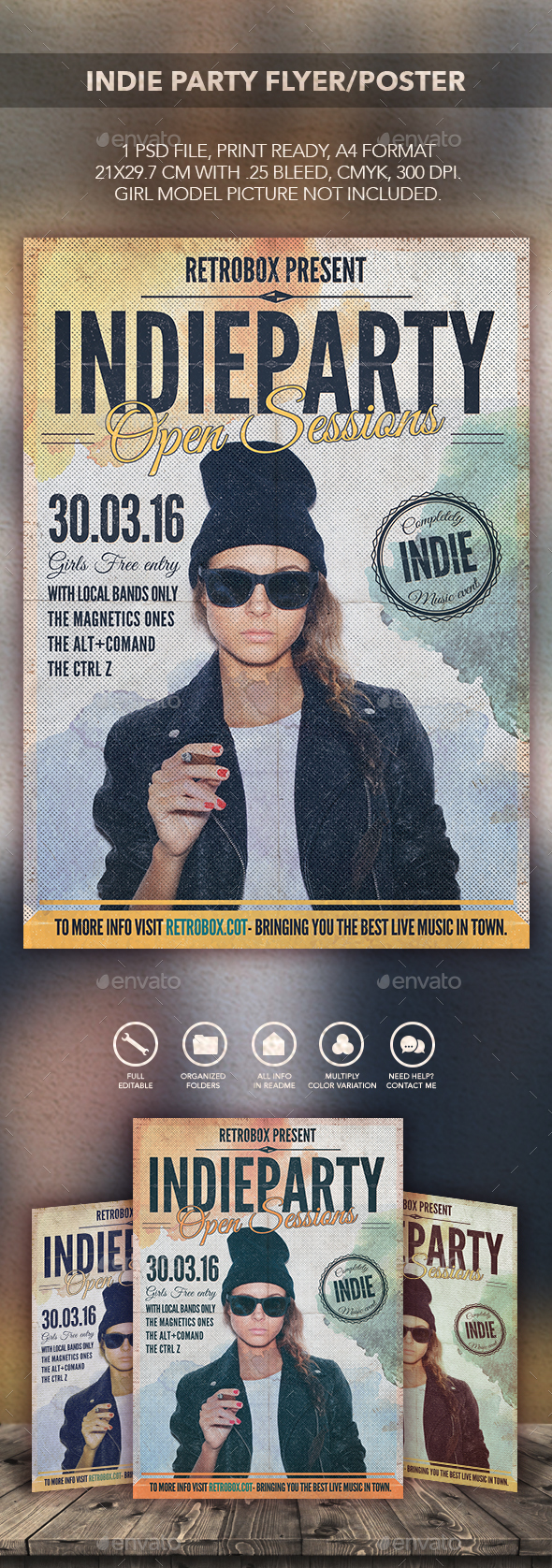 Indie Party Flyer Poster - Flyers Print Templates