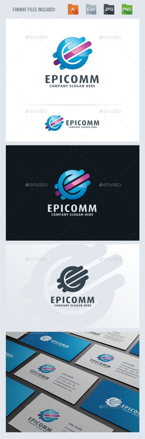 Epic Communication Logo Template - Vector Abstract