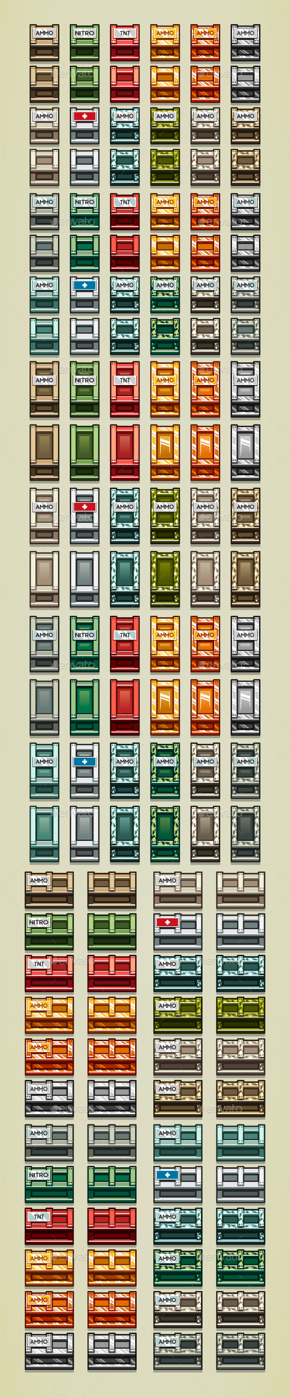 Boxes - Objects Vectors