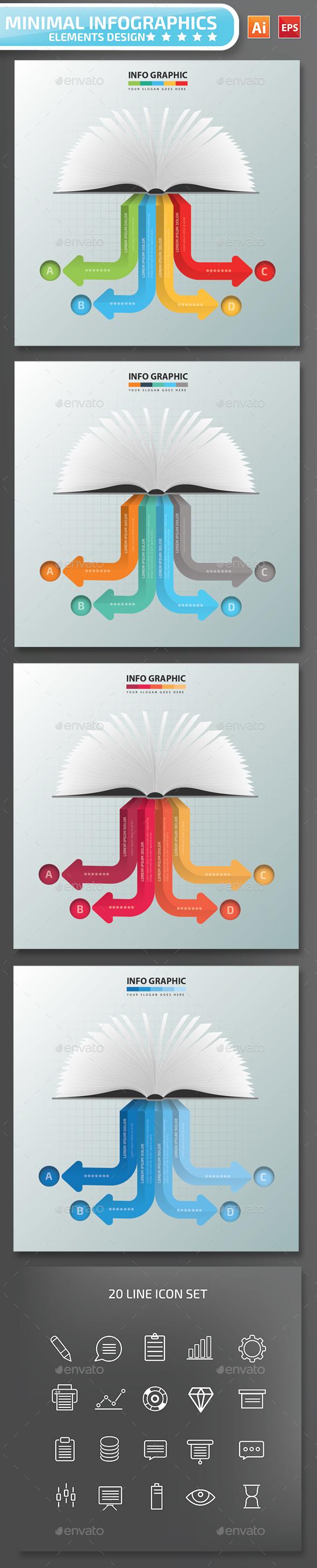 Minimal Book Infographics Design 01 - Infographics
