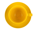 Yellow round empty tea cup on a saucer - PhotoDune Item for Sale