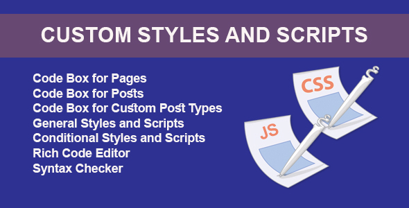 Custom Styles and Scripts - CodeCanyon Item for Sale