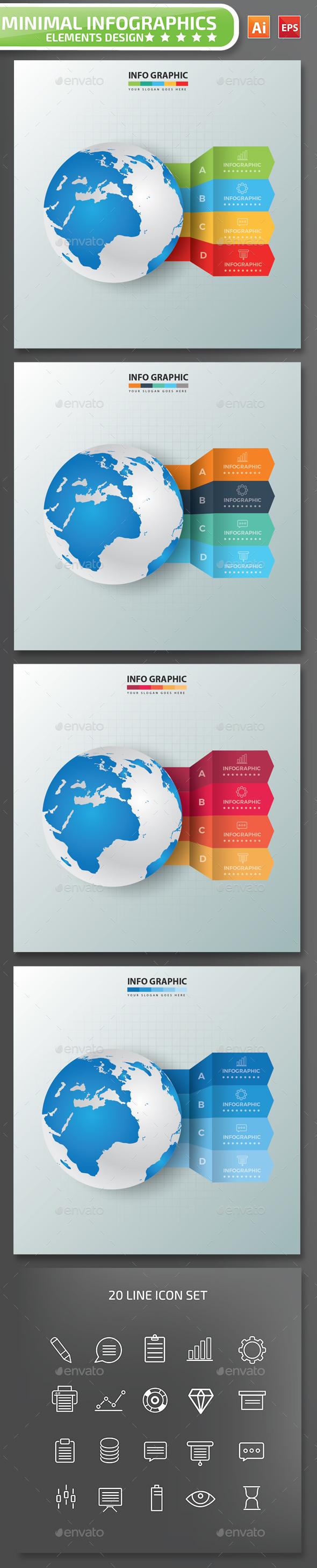 Minimal Global Infographics Design Part 3 - Infographics