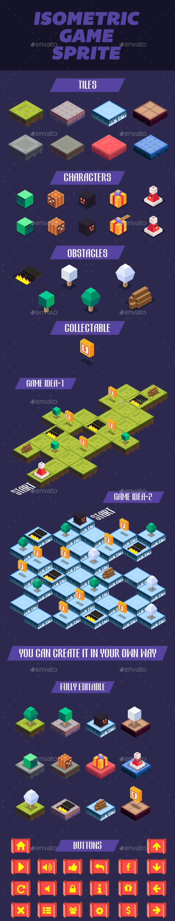 Isometric Game Sprite - Game Kits Game Assets
