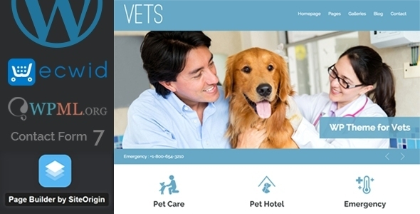 VETS - Veterinary Medical Health Clinic WP Theme