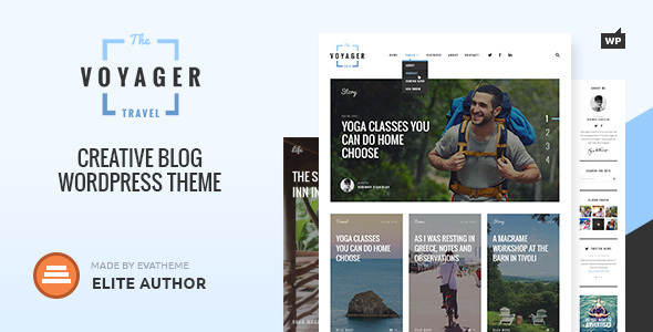 Voyager — Creative Blog WordPress Theme