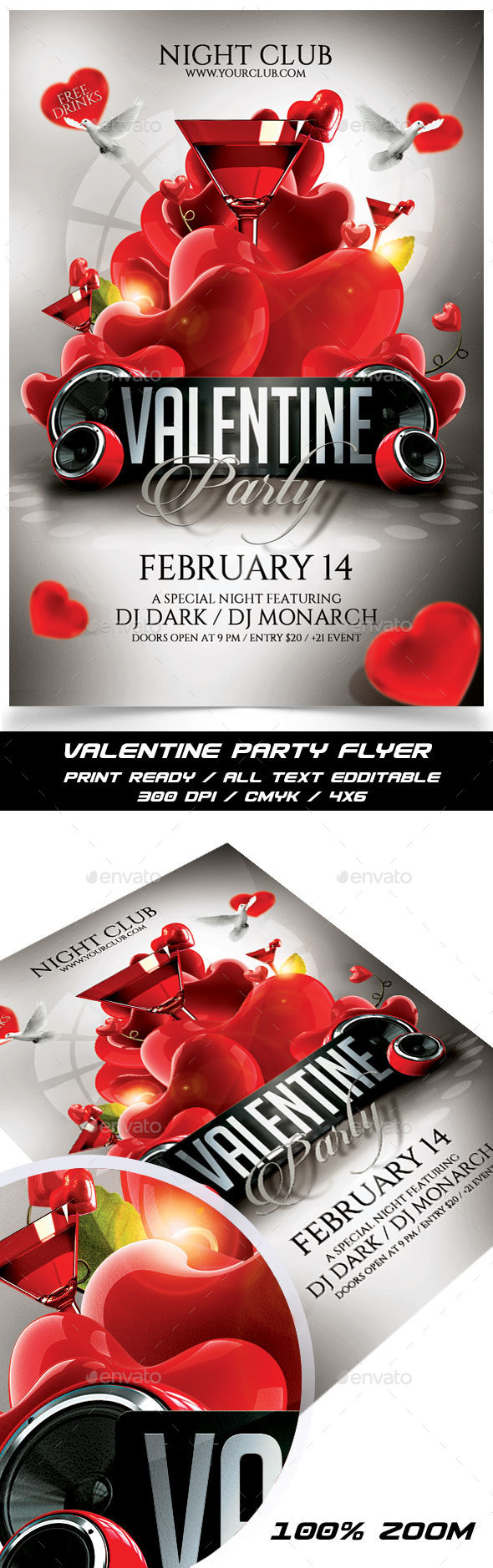 Valentine Party Flyer - Events Flyers