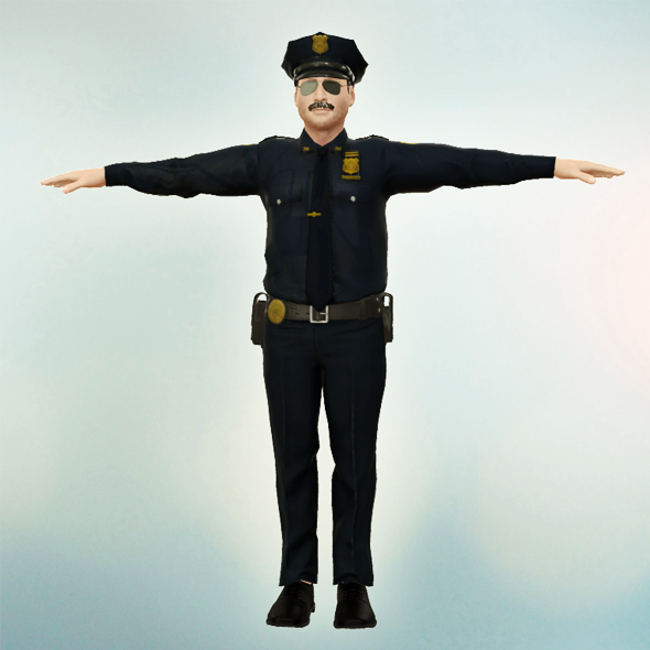 Police Officer - 3DOcean Item for Sale