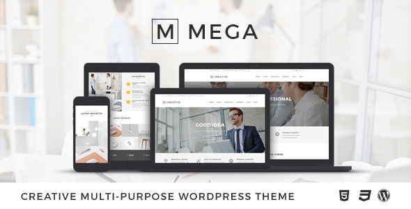 Mega – Creative Multi-Purpose WordPress Theme