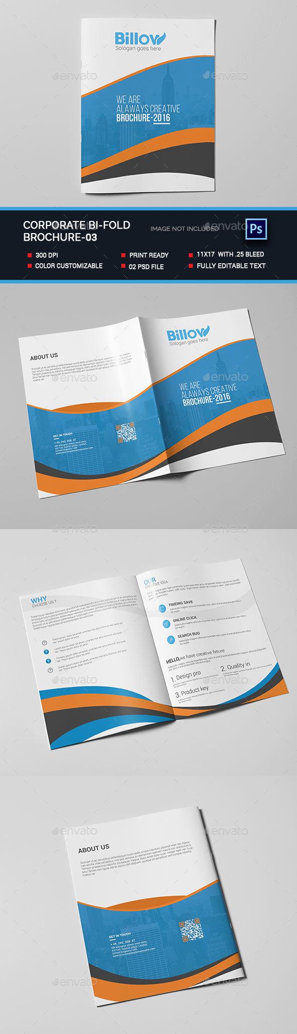 Corporate Bi-fold Brochure-03 - Brochures Print Templates