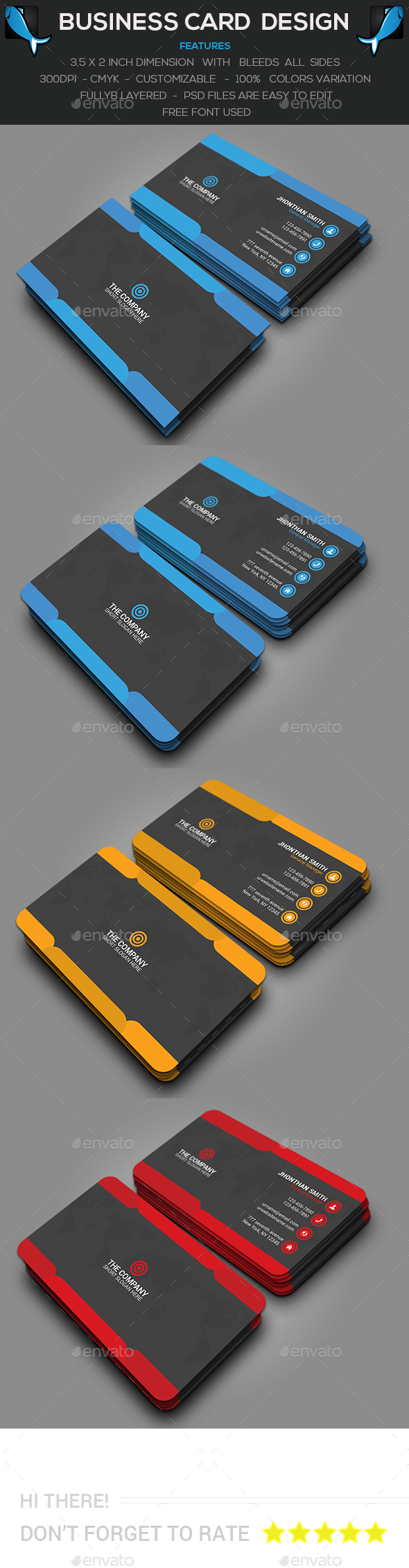 Different Corporate Business Card - Creative Business Cards