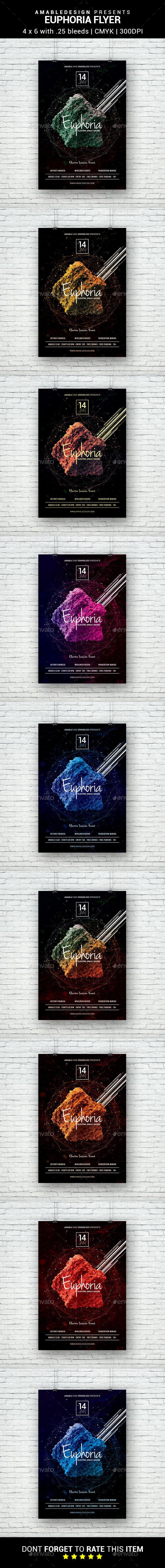 Euphoria Flyer - Clubs & Parties Events