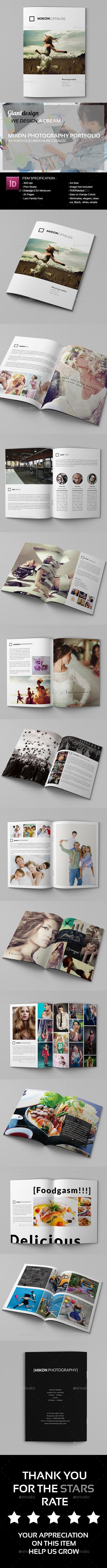 Mikon - Photography Portfolio A4 Catalog - Portfolio Brochures