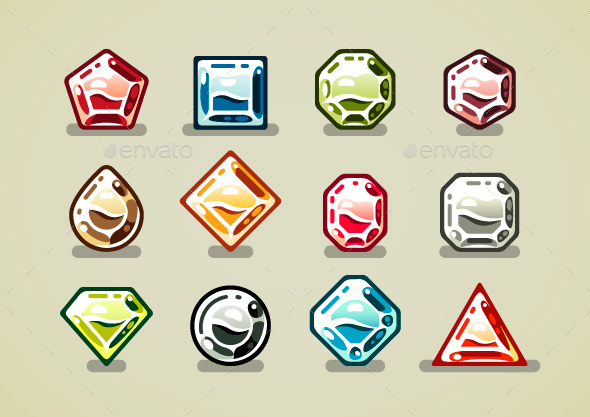 Gems - Decorative Vectors